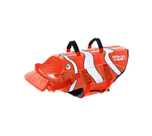 Dog Life Jacket Ripstop Life Jacket for Dogs by Outward Hound, Large, Fun Fish