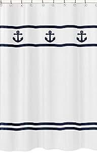 Amazon.com: Anchors Away Náutico Azul marino y blanco Kids ...