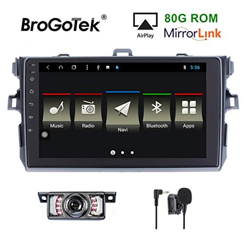 Android 8.1 Car Stereo Head Unit for Toyota Camry Corolla 2006-2011 Car Radio Double Din GPS Navi Navigation 9 Inch IPS Panel Touch Screen Bluetooth Radio SWC 4G WiFi CAM-in (IPS Panel Corolla)
