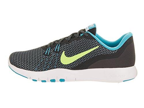 Nike Frauen Flex Trainer 5 Schuh Anthrazit / Geistergrün / Chlorblau