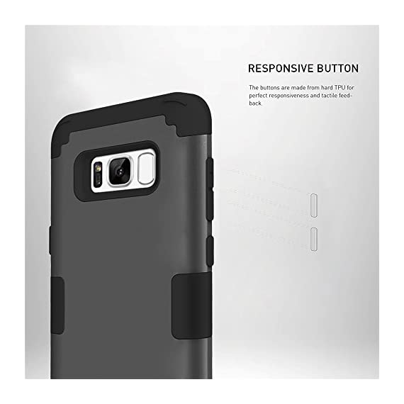 Galaxy S8 Plus Case, KAMII 3in1 [Shockproof] Drop-Protection Hard PC Soft Silicone Combo Hybrid Impact Defender Heavy Duty Full-Body Protective Case Cover for Samsung Galaxy S8 Plus 6 Specifically designed for Samsung Galaxy S8 Plus (6.2inch). [Case ONLY, Screen protector doesn't includes]. Available in multiple color bumper finish styles to show off your unique style and passion for trend. 3 in 1 hybrid high impact combo with hard PC outer shell and soft inner silicone. Full-Body Protective Cover and fit your phone perfectly and keep high touch sensitivity.