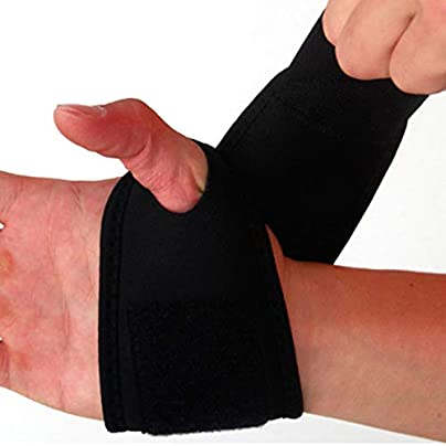 Sport Wristband Adjustable Wrist Guard Band Carpal Pain Wraps Bandage Bandage Wrist Brace Support Light-Weight Wrist Bracers Estimated Price £8.29 -