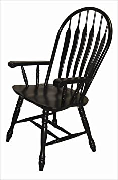 Sunset Trading 41 Comfort Arm Chair in Antique Black
