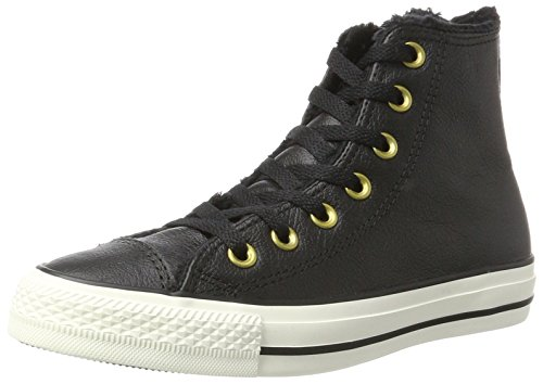 Taylor Chuck All Leather Womens Trainers Converse Black Hi Star HqvOgx