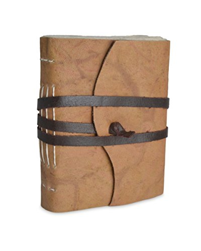 Nepali Expedition Rustic Leather Journal with Traditional Handmade Lokta Paper from Nepal (Medium)