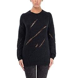 Blk Dnm Women S Bfmk09black Black Wool Sweater