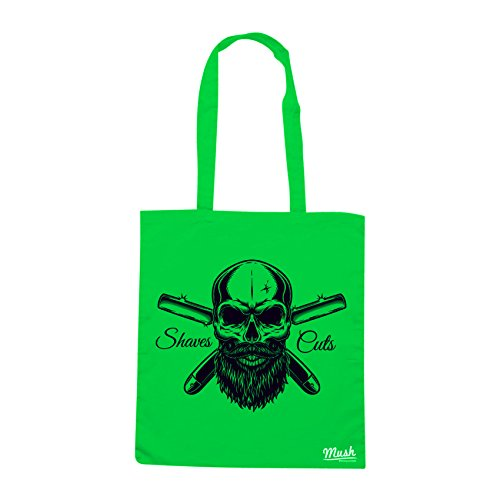 Borsa BARBER SKULL CUTS &SHAVES - Verde prato - MUSH by Mush Dress Your Style