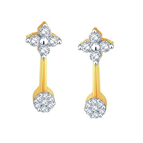 Giantti 14carats Diamant pour femme Dangler Boucles d'oreilles (0.2994CT, VS/Si-clarity, Gh-colour)