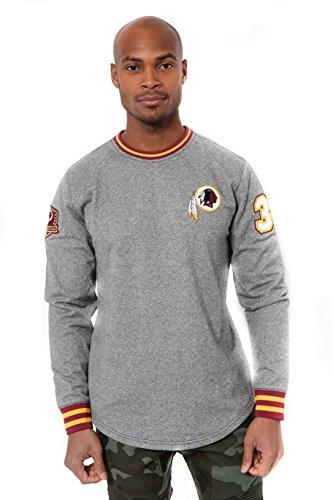 - ICER Brands Adult Men Fleece Sweatshirt Long Sleeve Shirt Rib Stripe, Team Color, Black Marl, Small