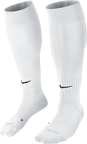 Unisex Nike Classic II Cushion Over-the-Calf Football Sock, White, Men Size 6-8, Womens Size 6-10