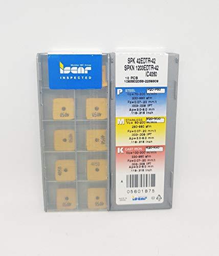 Iscar SPKN 1203EDTR-42 Hartmetalleinsätze IC4050 Frässpitzen, 10 Stück