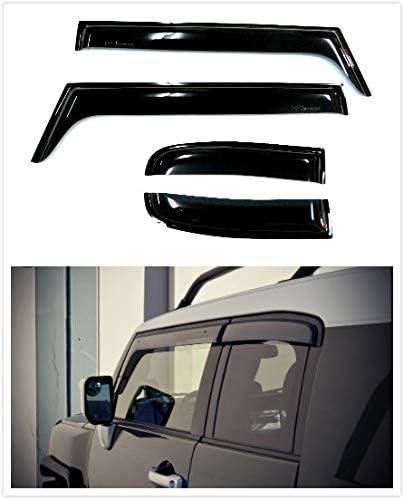 Lavnox 4Pcs Vent Visor Side Window Visor Rain Sun Wind Deflectors Guard Vent Shade Black Tinted for Toyota FJ Cruiser 2006-2017