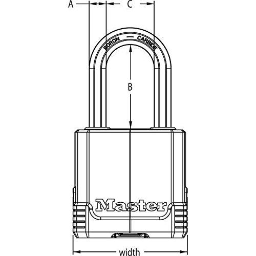 Master Lock Padlock Magnum 1-3/4'' 1-1/2'' Ka To Key # 2682 Steel by Master Lock (Image #2)