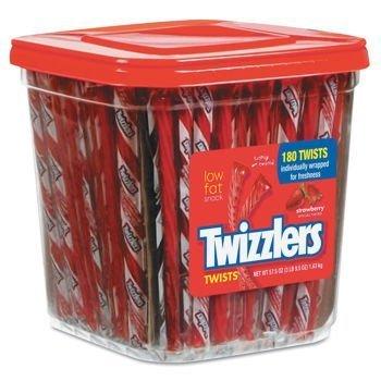 (Twizzlers Twists Canister, Strawberry 57.5 oz by Twizzlers)