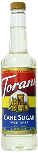 Torani Syrup, Cane Sugar Sweetener, 25.4 Ounce (Pack of 4) Sugar Sweetener