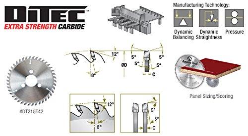Amana Tool DT150T24-30 Carbide Tipped Ditec 2000 Adjustable Type Scoring 150mm D x 24T ATB, 8 Deg, 30mm Bore, Scoring Set