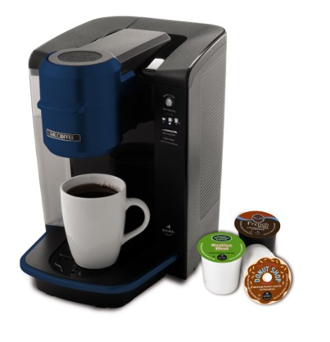 Mr. Coffee BVMC-KG6BL-001 Single Serve Coffee Brewer Powered by Keurig Brewing Technology, Blue ...