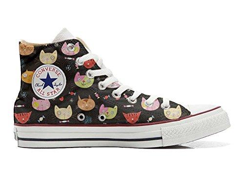 Sneaker Personnalisé Hi Converse Italien Artisanal Chaussures Star Et Little Kitten Imprimés Unisex Coutume My produit All EXEKqTw8
