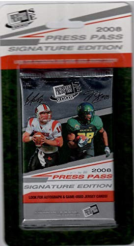 2008 Press Pass Football Signature Edition Lot Of 15 Sealed Packs Of 4 Cards Per Pack