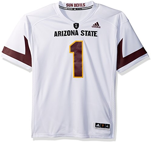 NCAA Arizona State Sun Devils Adult Men Premier Football Jersey, X-Large, White by adidas