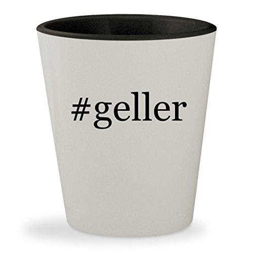#geller - Hashtag White Outer & Black Inner Ceramic 1.5oz Shot Glass