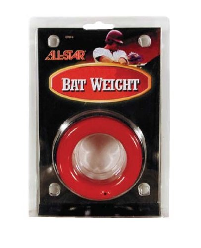 28 oz Adult Red Baseball Bat Weight Donuts (Fits All Big Barrel, 2 1/4 Bats, Softball Bats, etc) by Authentic All-Star Sports Shop