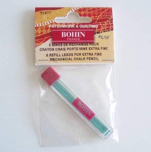 Bohin Crayon Craie Extra Fin de Rechange 6//Pkg-Blanc