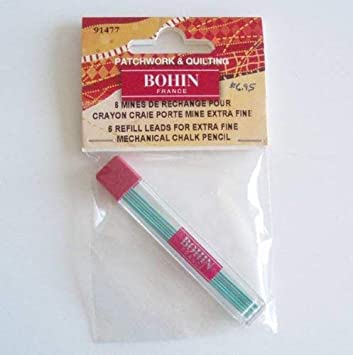 Bohin Mechanical Chalk Pencil Refill 6//Pkg-Green