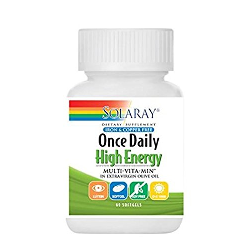 Solaray Once Daily High Energy, Iron and Copper Free, 60 softgels