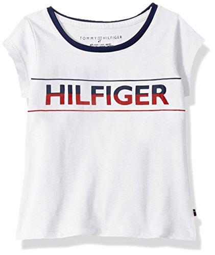 Tommy Hilfiger Big Girls' Th Icon Tee, White, Medium