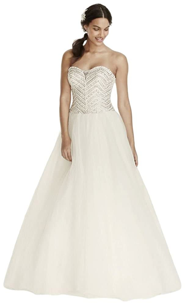 Jewel Tulle Wedding Dress with Crystal Detail Style WG3754