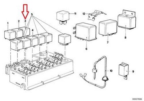 Amazon Bmw Oem Fuel Pump Relay 4prong E21 E23 E24 E28 E30 12 Rhamazon: Bmw 733i Fuel Pump Relay Location At Gmaili.net