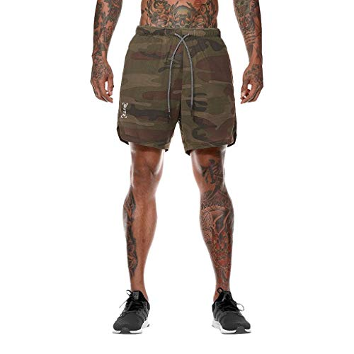 - Seaintheson Men's Sports Shorts,Gym Fitness Workout Shorts Pants Causal Slim Fit Solid Color Hiking Shorts for Men Camouflage