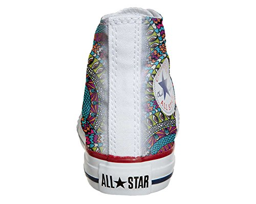 Chaussures Personnalisées Converse All Star (chaussures Artisanales) Texture Mexicaine