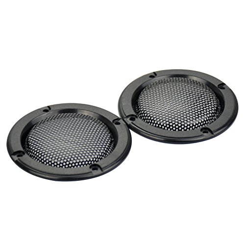 Aoshike 2pcs 2inch black treble speaker protective grille for plug-in card sound hood (Speaker Grill Mesh)