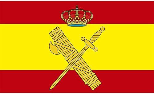 Durobol Bandera de España con el escudo de la Guardia Civil 150 x 90 cm Satén Flag: Amazon.es: Jardín