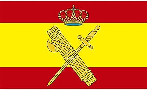 Durobol Bandera de España con el escudo de la Guardia Civil 150 x ...