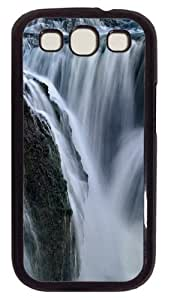 Iceland Waterfall PC Case Cover For Samsung Galaxy S3 SIII I9300 Black
