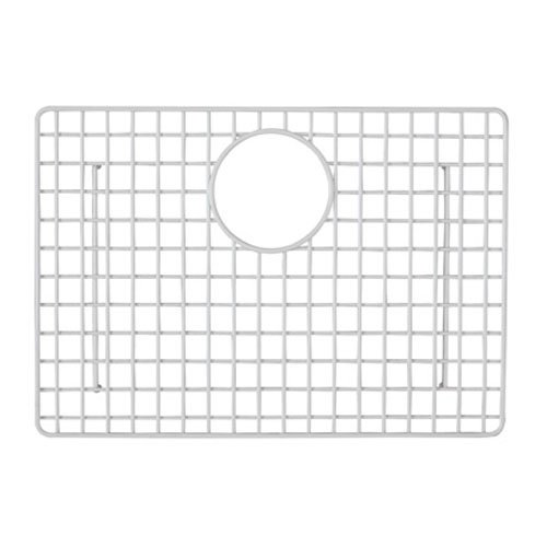Rohl WSG6347WH 18-5/8-Inch by 13-1/8-Inch Wire Sink Grid for 6347 Laundry Kitchen Sinks in White Abcite Vinyl