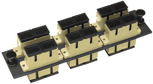 Allen Tel Products GBSC-6MMDU Multimode Phosphorus Bronze Sleeve Fiber Optic Loaded Duplex Mounting Panel SC Adapter, 6-Pack