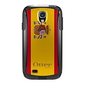 CUSTOM Black OtterBox Commuter Series Case for Samsung Galaxy S4 - Spain Spanish Flag