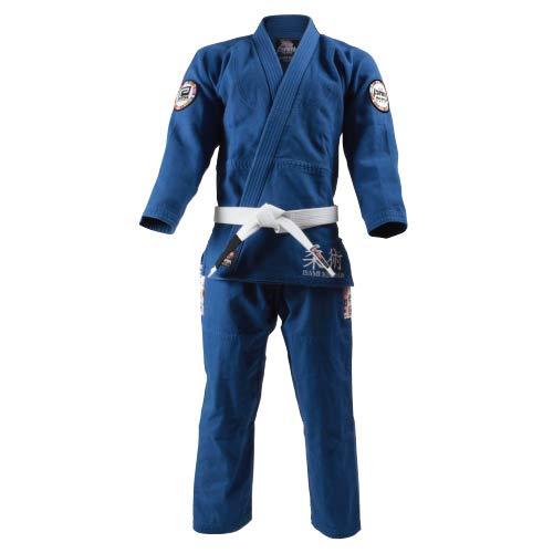 ISAMI イサミ×リバーサル柔術衣 ワールドモデル(上下セット) 青 A-0 B07QM3J49Q