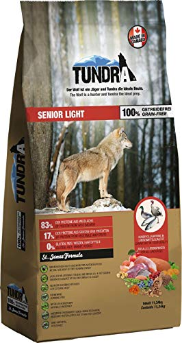 Tundra Hundefutter Senior/Light – getreidefrei (11,34 kg)