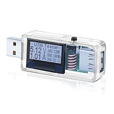 USB Meter, Eversame Portable Multimeter USB Support QC2.0/QC3.0, Digital USB Multimeter DC 3.6V-32.5V Ammeter Voltmeter, USB Charger Mobile Power Detector Battery Tester
