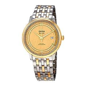 Omega De Ville 424.20.40.20.08.001 - Reloj de pulsera para hombre, esfera de oro amarillo 9