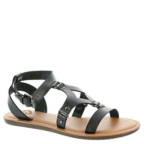 Madeline Open Toe Sandals - Madeline Women's Delani Gladiator Sandal,Black Synthetic,US 8 M