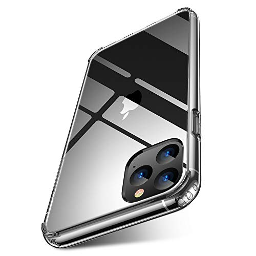 iPhone 11 pro max case Clear 2019 6.5 inch FLOVEME PC TPU Ultra Comfort-Grip Cell Phone Cases Compatible for Apple iPhone 11 Pro Max Protective Case Cover Basic Accessories Support Wireless Charging (Best Basic Cell Phone 2019)