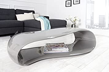 Beautiful Dunord Design Couchtisch Sofatisch Gravity Grau Cm Hochglanz  Fiberglas Design Lounge Tisch With Couchtisch Hochglanz Grau