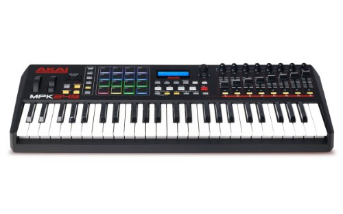 Akai Professional MPK249 | 49-Key USB MIDI Keyboard & Drum Pad Controller with LCD Screen (16 Pads/8 Knobs/8 Faders), VIP Software Download Included