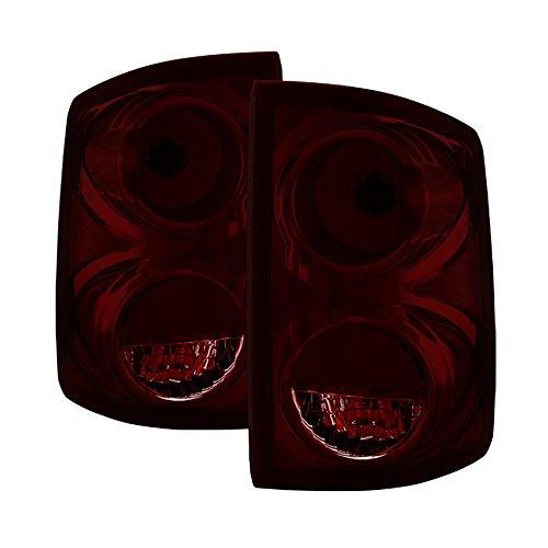 VIPMOTOZ Factory Style Tail Light Lamp For 2005-2011 Dodge Dakota - Smoke Red Lens, Driver & Passenger (Dodge Dakota Parking Light)